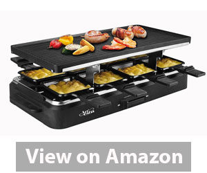 Best Raclette Grill - Artestia Raclette Party Grill with Two Full Size Top Plates Review