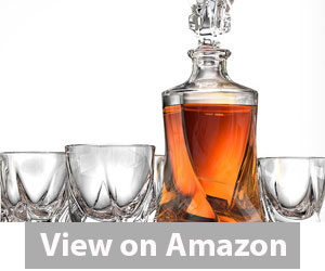 Best Whiskey Decanter - Ashcroft 5-Piece Twist Whiskey Decanter Review
